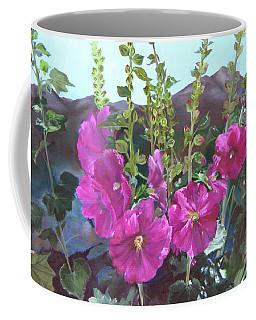 Hollyhock Necklace Coffee Mug