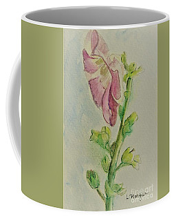 Hollyhock The Harbinger Of Summer Coffee Mug