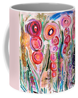 Hollyhocks Of The Garden Coffee Mug