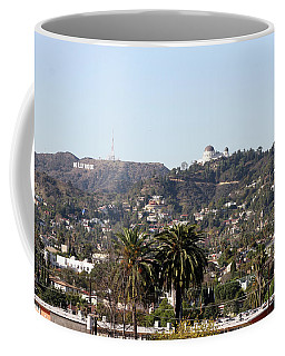 Hollywood Hills From Sunset Blvd Coffee Mug