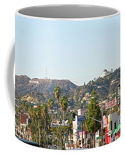 Hollywood Sign Above Sunset Blvd. Coffee Mug