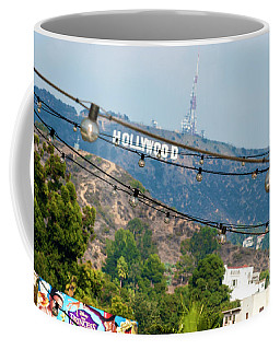 Coffee Mug featuring the photograph Hollywood Sign On The Hill 1 by Micah May