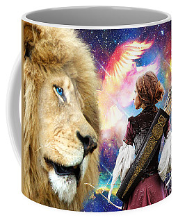 Coffee Mug featuring the digital art Holy Calling by Dolores Develde