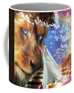Coffee Mug featuring the digital art  Divine Perspective by Dolores Develde