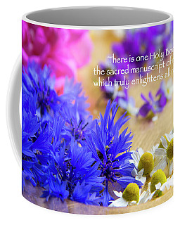 Sacred Manuscript Of Nature Coffee Mug by Agnieszka Ledwon