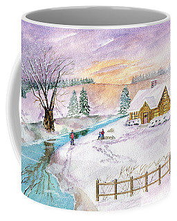 Coffee Mug featuring the painting Home For Christmas by Melly Terpening