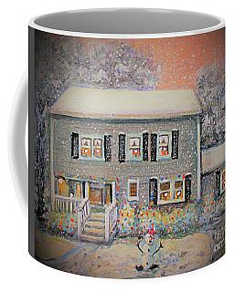 Coffee Mug featuring the painting Home For Christmas by Rita Brown