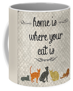 Home Is Where Your Cat Is-jp3040 Coffee Mug
