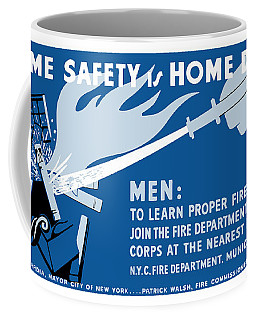 Coffee Mug featuring the painting Home Safety Is Home Defense by War Is Hell Store