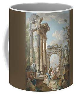 Homily Of An Apostle In Roman Ruins Coffee Mug