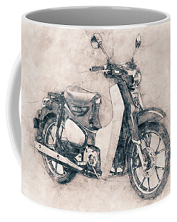 Honda Super Cub - Motor Scooters - 1958 - Motorcycle Poster - Automotive Art Coffee Mug