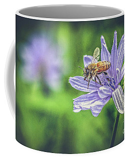 Honey Bee And Flower Coffee Mug