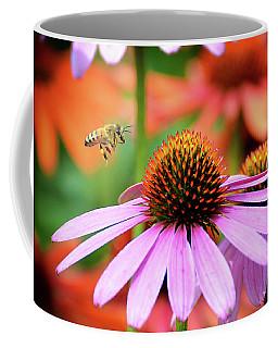 Honeybee Flying To A Coneflower Coffee Mug