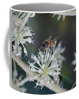 Honeybee On Rice Paper Plant Flowers Coffee Mug