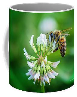Honeybee On White Clover..... Coffee Mug