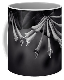 Coffee Mug featuring the photograph Honeysuckle In Black And White by Chrystal Mimbs