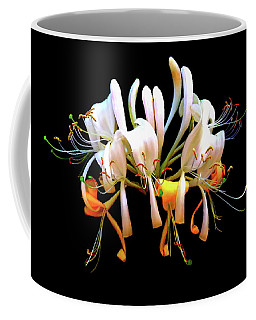 Honeysuckle On Black Coffee Mug