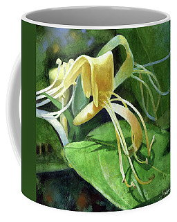 Coffee Mug featuring the painting Honeysuckle Shade by Andrew King