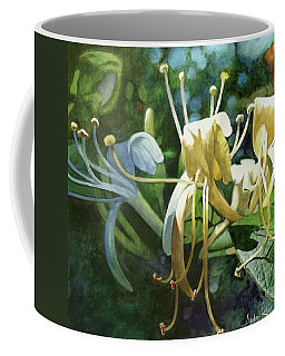 Coffee Mug featuring the painting Honeysuckle Sun by Andrew King