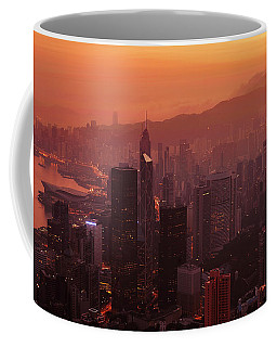 Coffee Mug featuring the photograph Hong Kong City View From Victoria Peak by Pradeep Raja Prints