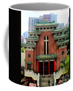 Coffee Mug featuring the photograph Hong Kong Temple by Randall Weidner