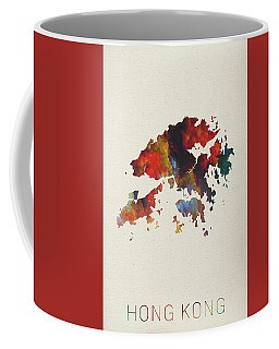 Hong Kong Watercolor Map Coffee Mug