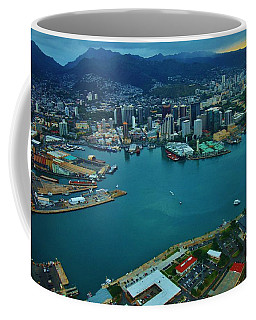 Honolulu Waterfront At Dawn Coffee Mug