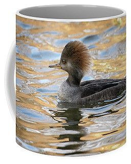 Coffee Mug featuring the photograph Hooded Merganser Female by Michael Hubley