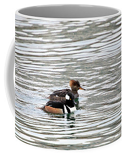 Hooded Merganser Pair Coffee Mug by Gary Hall