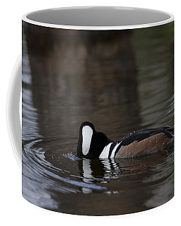 Hooded Merganser Preparing To Dive Coffee Mug