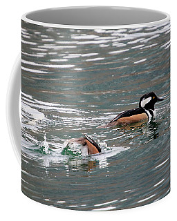 Coffee Mug featuring the photograph Hooded Mergansers by Gary Hall