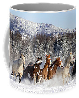 Hoofbeats Coffee Mug by Jack Bell