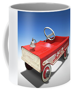 Coffee Mug featuring the photograph Hook And Ladder Peddle Car by Mike McGlothlen