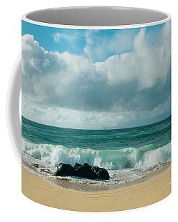 Coffee Mug featuring the photograph Hookipa Beach Pacific Ocean Waves Maui Hawaii by Sharon Mau