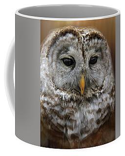 Coffee Mug featuring the photograph Hoot by Davandra Cribbie