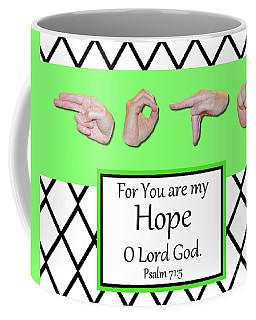 Hope - Bw Graphic Coffee Mug