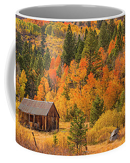 Hope Valley Fall Cabin By Brad Scott Coffee Mug