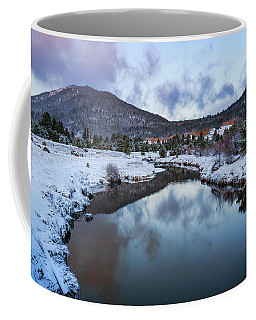 Hope Valley Snowy Autumn Morning Coffee Mug