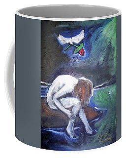 Coffee Mug featuring the painting Hope  by Winsome Gunning