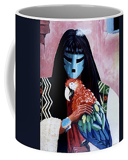 Hopi Dances And The Red Macaw Coffee Mug by Anastasia Savage Ealy