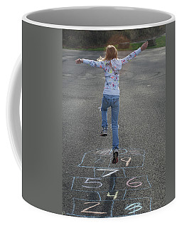 Coffee Mug featuring the photograph Hopscotch Queen by Richard Bryce and Family