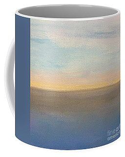 Coffee Mug featuring the painting Horizon Aglow by Kim Nelson