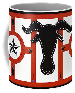 Coffee Mug featuring the mixed media Horn Time In Texas by Robert Margetts