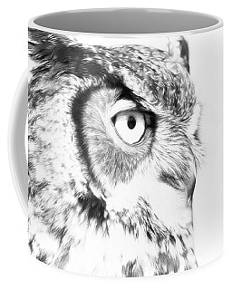 Horned Owl Pen And Ink Coffee Mug