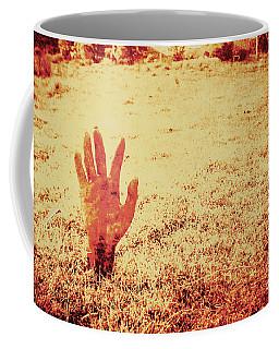 Horror Hand Of A Zombie Awakening Coffee Mug