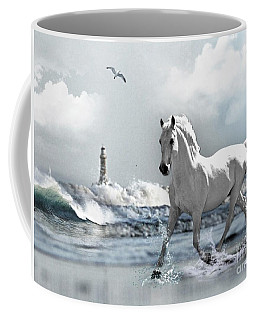 Horse At Roker Pier Coffee Mug