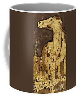 Horse Above Stones Coffee Mug