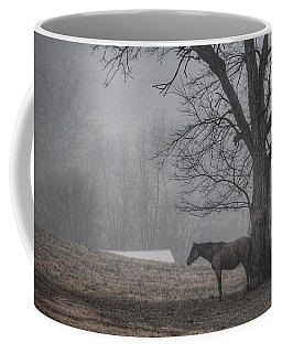 Coffee Mug featuring the photograph Horse And Tree by Sumoflam Photography