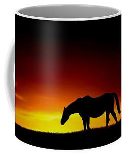 Horse At Sunset Coffee Mug