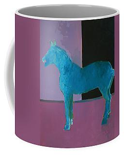 Horse, Blue On Lavender Coffee Mug